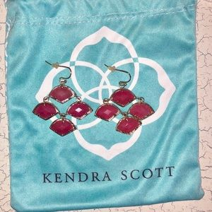 Kendra Scott Hot Pink Geo Earrings